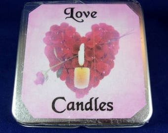 Love Candles Tin