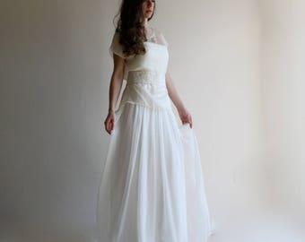 Wedding dress, Modest wedding dress, Bridal separates, Simple wedding dress, Silk wedding dress, Beach wedding dress, bohemian wedding dress