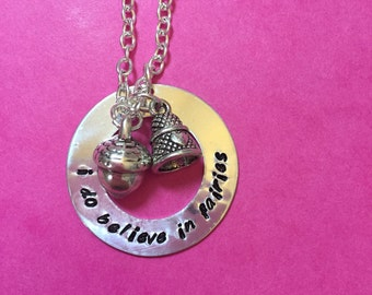 I Do Believe In Fairies Peter Pan Necklace