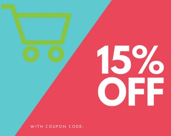 15% off coupon- 5 files- 1 zip file included Printables