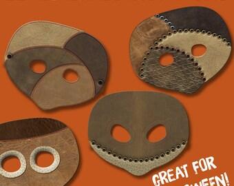 HALLOWEEN MASK kids, printable halloween mask for kids, paper halloween mask for kids, DIY halloween mask, instant download.
