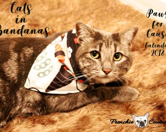 Cats in Bandanas 2018 Calendar - Paws for Cause - Proceeds Support Give Me Shelter Cat Rescue