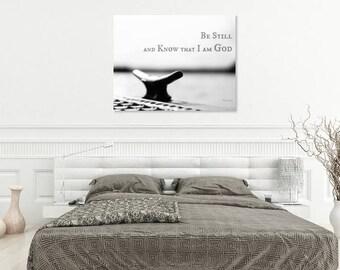 Bible Verse Wall Art Print | Scripture Wall Art | Inspirational Wall Art Print | Christian Wall Art | Black + White Nautical Photography