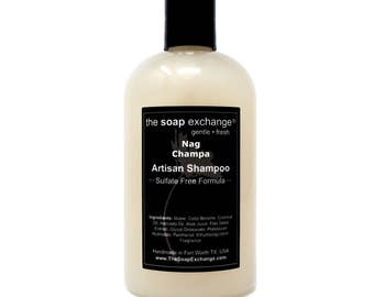 Nag Champa Natural Shampoo, Hair Care, Artisan Handmade, Sulfate Free, Paraben Free, The Soap Exchange