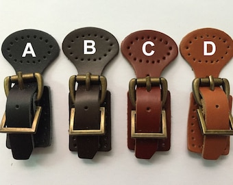 1Set Genuine Leather Buckles With Magnetic Snap,Leather Closures For Handbag Clasp,Handbag Leather Buckle,4 Colors Are Available