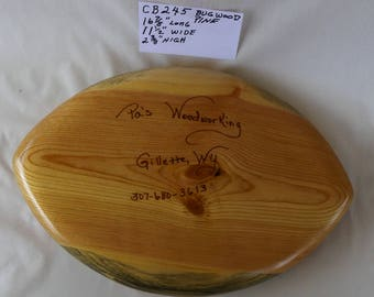 Wooden Bowl Hand Carved Football Shaped CB245
