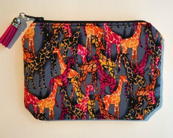 Coin Purse, Card Pouch, Zipper Pouch, Purse, Giraffe Purse, Mother's Day Gift
