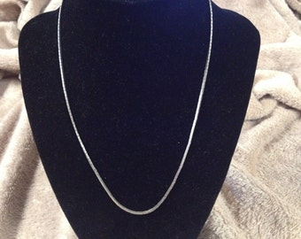 Vintage Silvertone Chain Necklace, 18'' Long