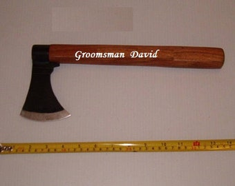 2 Groomsmen Gifts,Throwing Axes, Tomahawks, Hatchets Personalized With Groomsman And First Name On Them