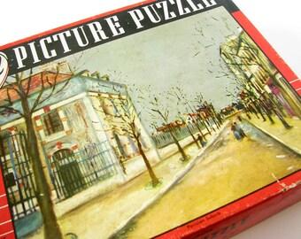 Complete Vintage Puzzle Parisian Suburb Guild Series 109