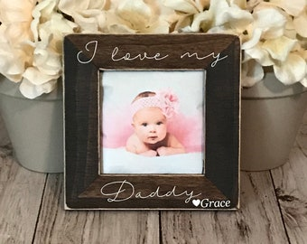 Dad picture frame,  custom picture frame, Dad gift, father's day gift, personalized picture frame,  pregnancy announcement