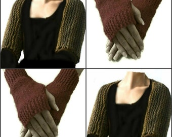 Claire's Shoulderette Shrug and Fingerless Gloves Set Digital PDF Knitting Pattern not a finished product