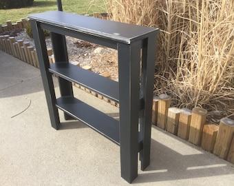 Rustic Black Sofa table