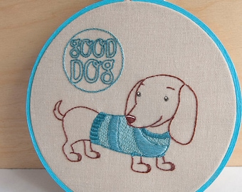 Hand Embroidery Patterns, Dog Embroidery Patterns, Hand Embroidery, PETITE PUPS embroidery design collection dachshund embroidery pattern