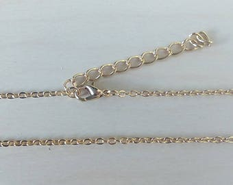 18 inches gold plated finished chain - Gold finished chain - Jewelry findings (one) [CH002]