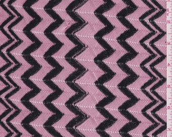 Pink/Black Sweater Knit, Fabric By The Yard