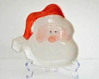 Christmas Santa nibbles dish