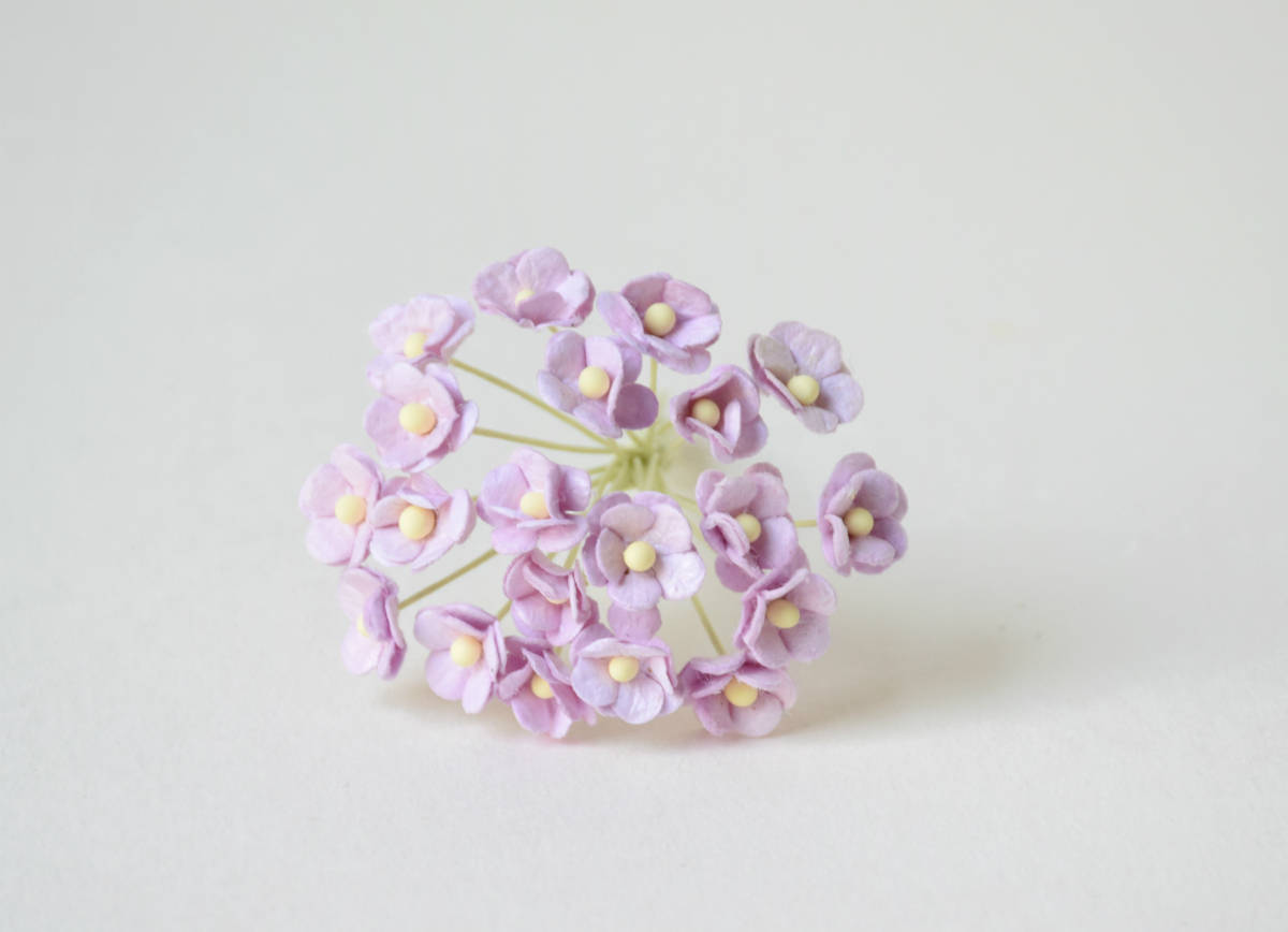 10 mm / 10 Lilac Mulberry Paper Flowers from byThita on Etsy Studio