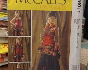 McCall's Pattern 6911 Bolero Skirt Corset Over-skirt Steampunk Costume