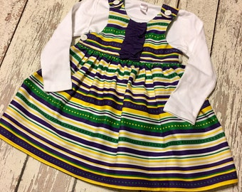Mardi Gras Dress, Mardi Gras outfit, Girls Mardi Gras dress, baby mardi gras dress, Parade Dress, girls parade dress, baby parade dress