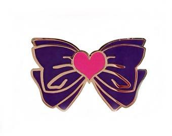 Sailor Mars Purple Bow Lapel Pin