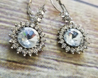 Beautiful Clear Crystal Bridal Earrings, 3 pairs available, perfect Bridesmaids Gift
