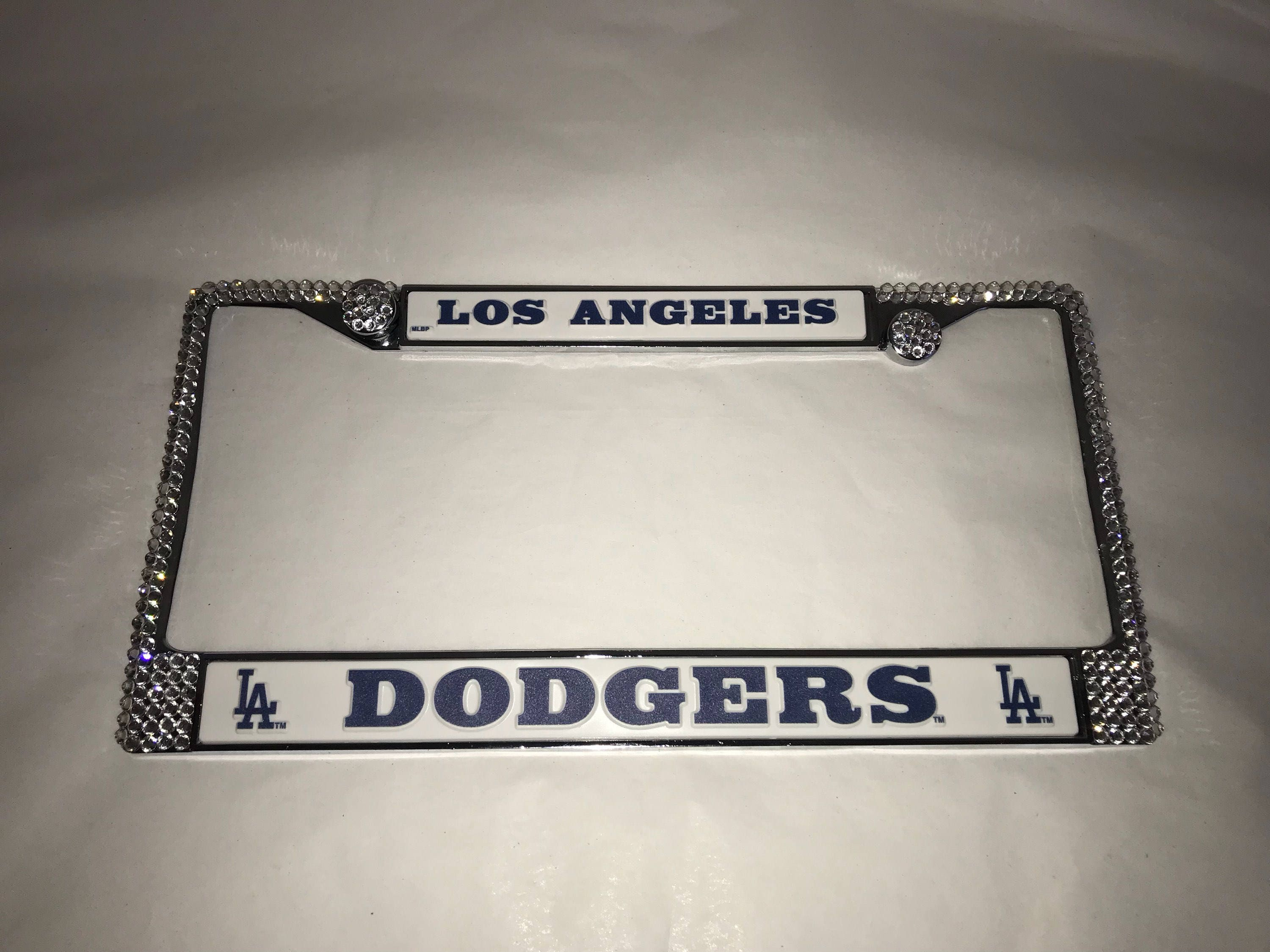 Dodgers Sport baseball Frame Crystal Sparkle Auto Bling Rhinestone ...