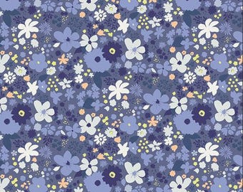 Chic Flora - Vintage Rush Bleu from Art Gallery Fabrics