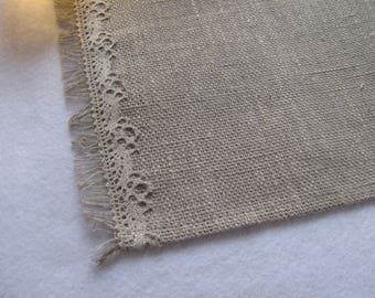 Rustic Placemat Natural Raw Linen Placemats Burlap Placemats With Lace