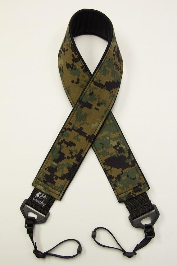 Marpat Camera Strap 2 in or 1.5 in Wide Custom Padded Marpat Military Camouflage DSLR SLR