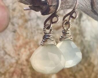 Seafoam Chalcedony Earrings