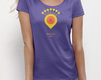 Peafitch Purple | T-shirt Ladies | Eco-friendly
