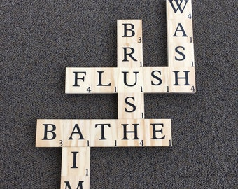Bathroom Scrabble Wall Art