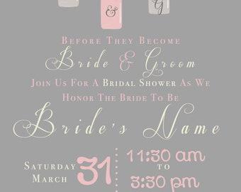 Mason Jar Wedding Shower Invitation