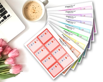 SOCIAL MEDIA CHECKLIST (Rainbow) Blogger Vlogger Planner Stickers for the Erin Condren Planner Planner Sticker Kit Sticker Set Functional