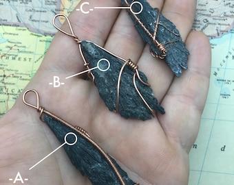 Choice of Black Kyanite Pendant