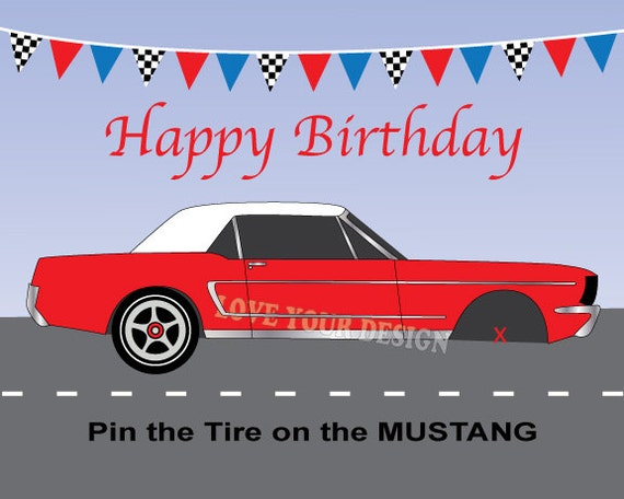 il_570xN.754626674_lrjh?version=0 race car game pin the tire on the ford mustang birthday game