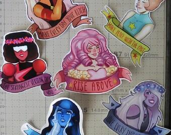 Steven Universe Crystal Gem Stickers