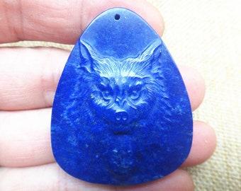 Natural blue color lapis lazuli Wolf Totem pendants Amulet