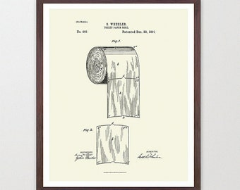Gallery Of Toilet Paper Design Print Bathroom Art Bathroom Wall Print  Patent Print Patent Poster Bathroom Humor Funny Poster Bathroom Decor With  Bathroom ...