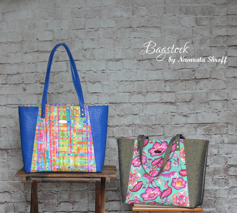 Everyday Tote Bagstock Sewing Pattern PDF sewing pattern