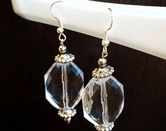 Clear Dangle Earrings