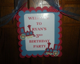 Birthday Door Signs and Centerpieces to match any banner