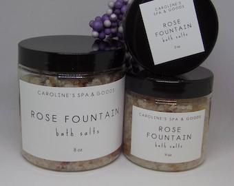 Rose Fountain Bath Salts