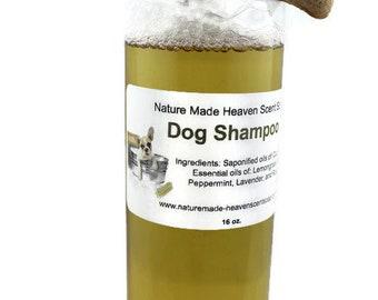 Dog Shampoo, All Natural, Essential Oils, Lavender, Lemongrass, Rose Geranium, Peppermint, Citronella, Ticks, Fleas