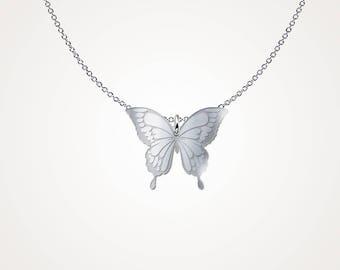 Monarch Butterfly Pendant - Butterfly wings pendant - .925 Sterling Silver Necklace