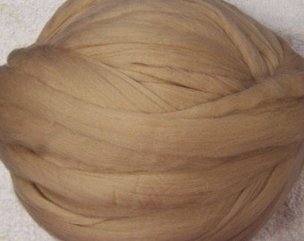 Wool Roving, Roving, Merino Roving, Merino Wool Roving, Felting Wool, Spinning Wool - Cafe Au Lait - 8oz