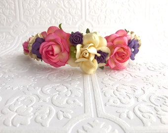 The Blush and Purple Goddess Floral Crown