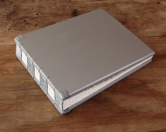 Instant Photo Guest Book or Scrapbook wedding guest book  baby book scrapbook anniversary silver natural spring  - made to order