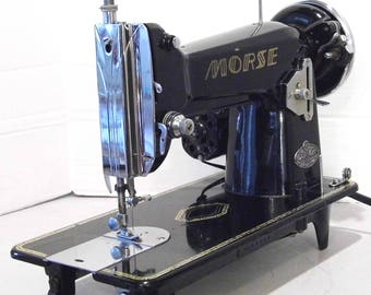 Restored Morse Dial-o-Magic Vintage Japanese Sewing Machine, by Stagecoach Road, with Free Shipping and Service Guaranty